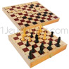 Wood folding box with Chess and Draugths games