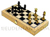 Wood box with Chessboard and game of 32 felted and plumbed boxwood chessmans [nb3]