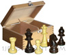 Beech-tree box with 32 boxwood chessmans [nb3] (chessboard not included)