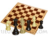 Wooden chessboard 50mm cases with 32 boxwood chessmans [nb5] (delivered in 2 polybags)