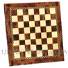 Marquetry wooden plate chessboard 35mm cases (delivered without chessman)