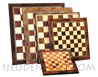 Marquetry wooden plate chessboards (delivered without chessman)