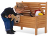 Bench with storage for toys