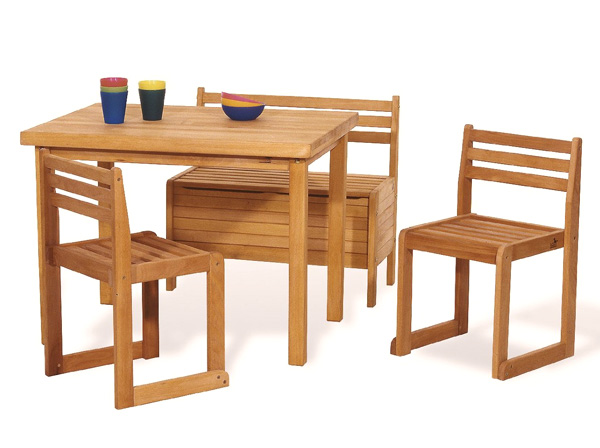 Table 2 Chairs and Bench with tidying up for toys