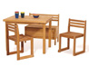 Children's furniture: 1 Table - 2 Chairs and 1 Bench with storage for toys