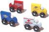 Pack 4 mini-fourgons : Police, Pompier, La Poste, Ambulance