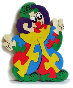 Puzzle en bois - clown