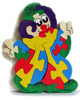 Wooden jigsaw : WOOD CLOWN