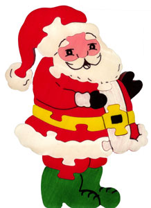 puzzle pere noel Jigsaw   wooden Father Christmas puzzle pere noel