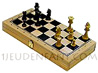 Wood box with Chessboard and boxwood chessmans