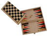 Wood box with Draugths and Backgammon games (folding double face)