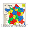 Wooden jigsaw : France card with 22 regions and departments -used in schools-