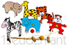 Wooden Croquet game - Jungle animals