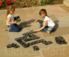 JUMBO black and White giant dominoes for outdoor games