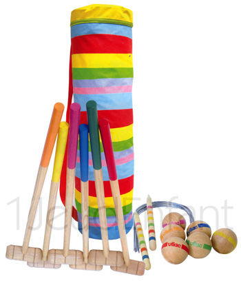 jeux de croquet en bois. Black Bedroom Furniture Sets. Home Design Ideas