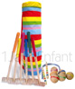 Wooden Croquet game for 6 gamers - with big model golf bag