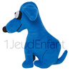 Blue soft teddy dog LE BEAU - design: artist KEITH HARING
