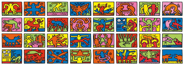 puzzle keith haring 32000 pi ces. Black Bedroom Furniture Sets. Home Design Ideas