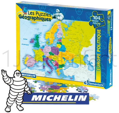 Michelin political Europe map