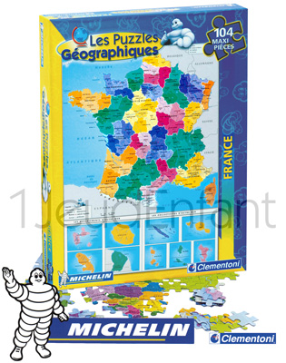 Carte MICHELIN France géographique